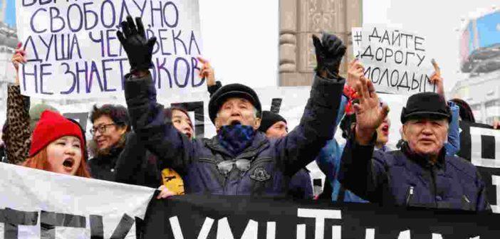 Kazakhstan detains dozens of protesters in a crackdown on govt. critics