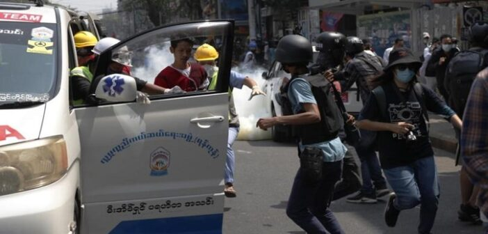 Myanmar police arrest hundreds in most sweeping crackdown on protesters