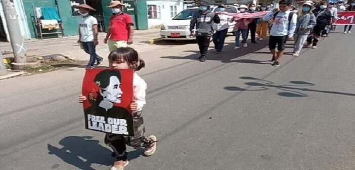 Five-year-old girl youngest activist jailed by Myanmar's junta